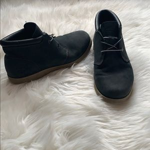 Timberland Mens Black Suede Leather Chukka Boots